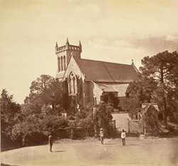 The Church, Kasauli, 1885 (where I was married)